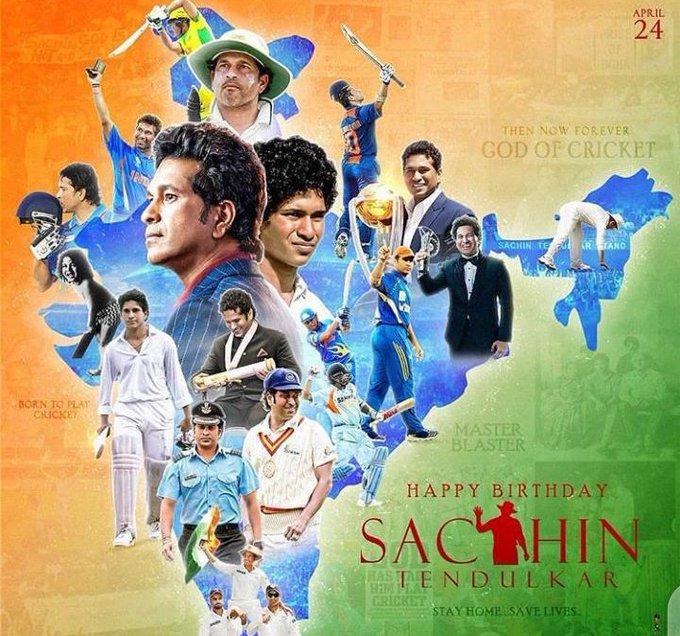 Wishing you very very Happy birthday the great man of India Mr. Sachin tendulkar