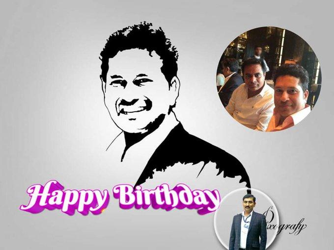 Wishing the cricketing legend, Sachin Tendulkar a very happy birthday!