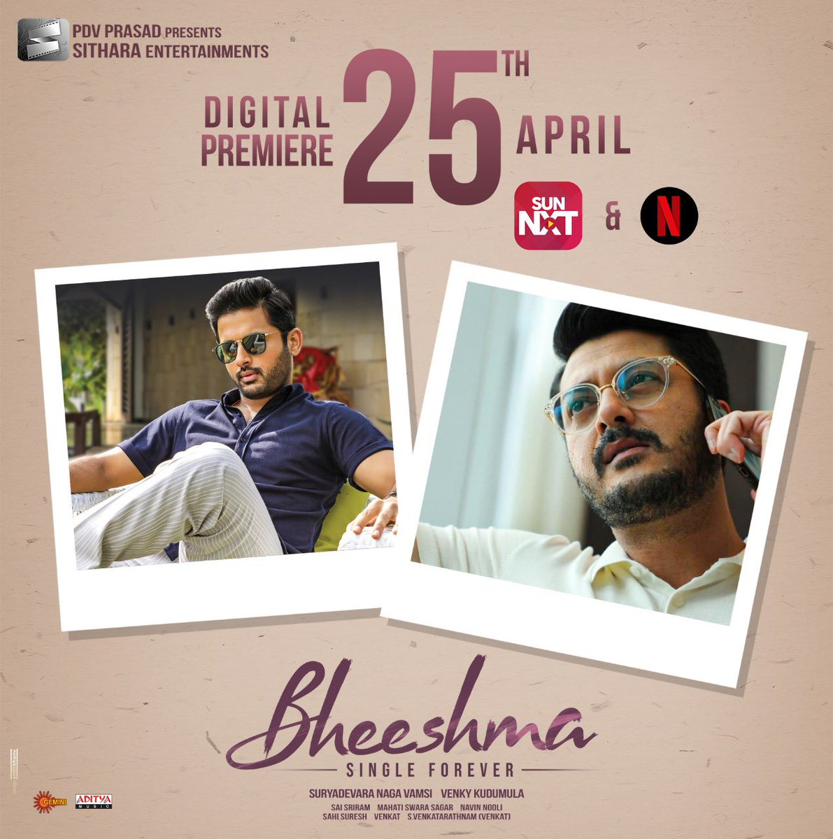 Jisshu U Sengupta On Twitter Watch The Digital Premiere Of My Telugu Film Bheeshma On Netflix Sunnxt On April 25th 2020 Venkykudumula Sitharaents Https T Co Cbk0z8mqtm