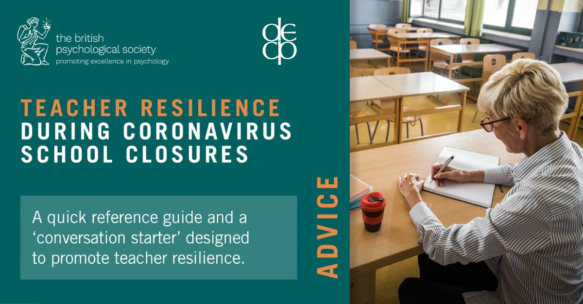 Read our advice on supporting teachers' resilience during #Covid19 school closures https://t.co/7vatx2ReOC https://t.co/C7oZExrDFA