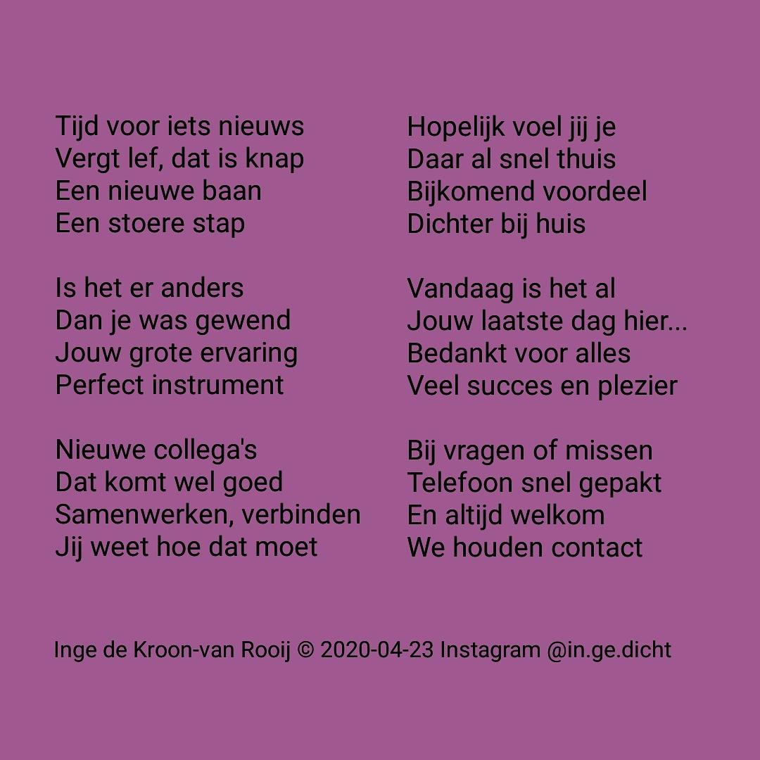Inge De Kroon On Twitter Bedankt Wilma Nieuwebaan Collega