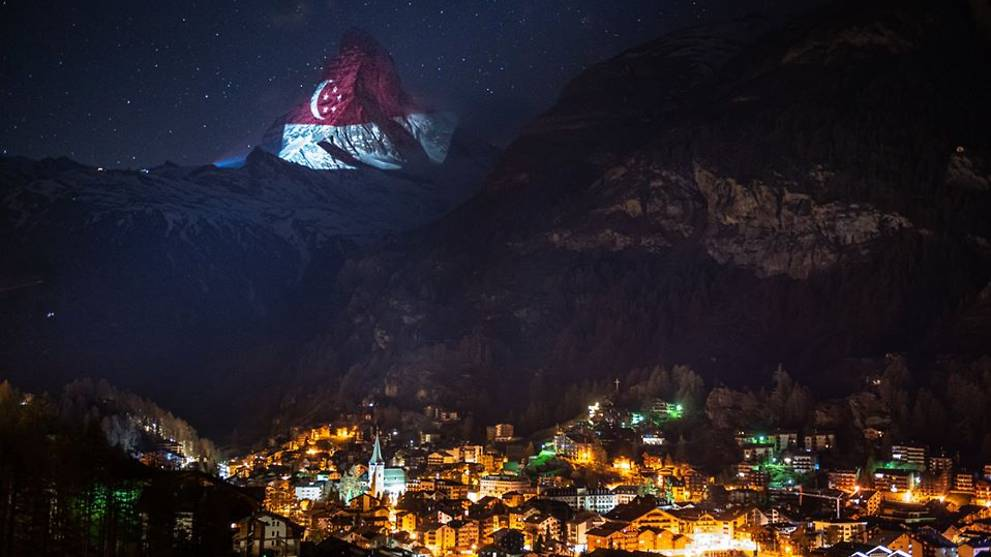 COVID-19: Switzerland's Matterhorn lights up with Singapore flag in show of solidarity