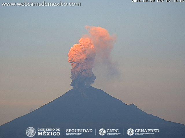 Popocatépetl registra tres explosiones, colocan semáforo en Amarillo Fase 2