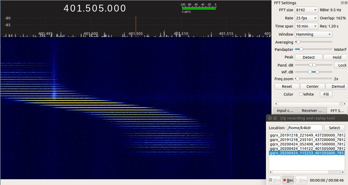 9k6 packets from unknown satellite in GQRX