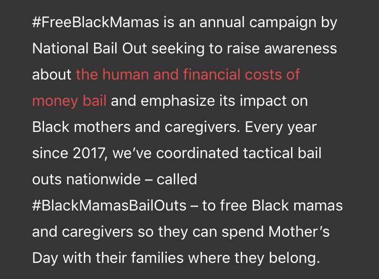 The CURA fundraising team has decided to focus on supporting Black Mama's Bail Out. All funds raised will go directly towards #BlackMamasBailOuts  If you'd like to show your support for the campaign, you can donate here: https://t.co/haOo5achbP https://t.co/vNRG1x7Yj7