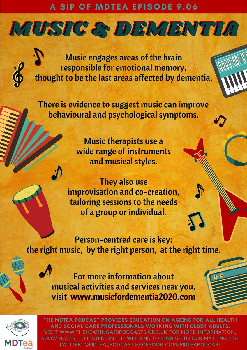 A useful guide from @HINSouthLondon, full of online resources for those working with people living with dementia during the covid-19 pandemic: buff.ly/2JOA8EN Fits in nicely with our latest episode on Music and Dementia! buff.ly/3e4w8xI