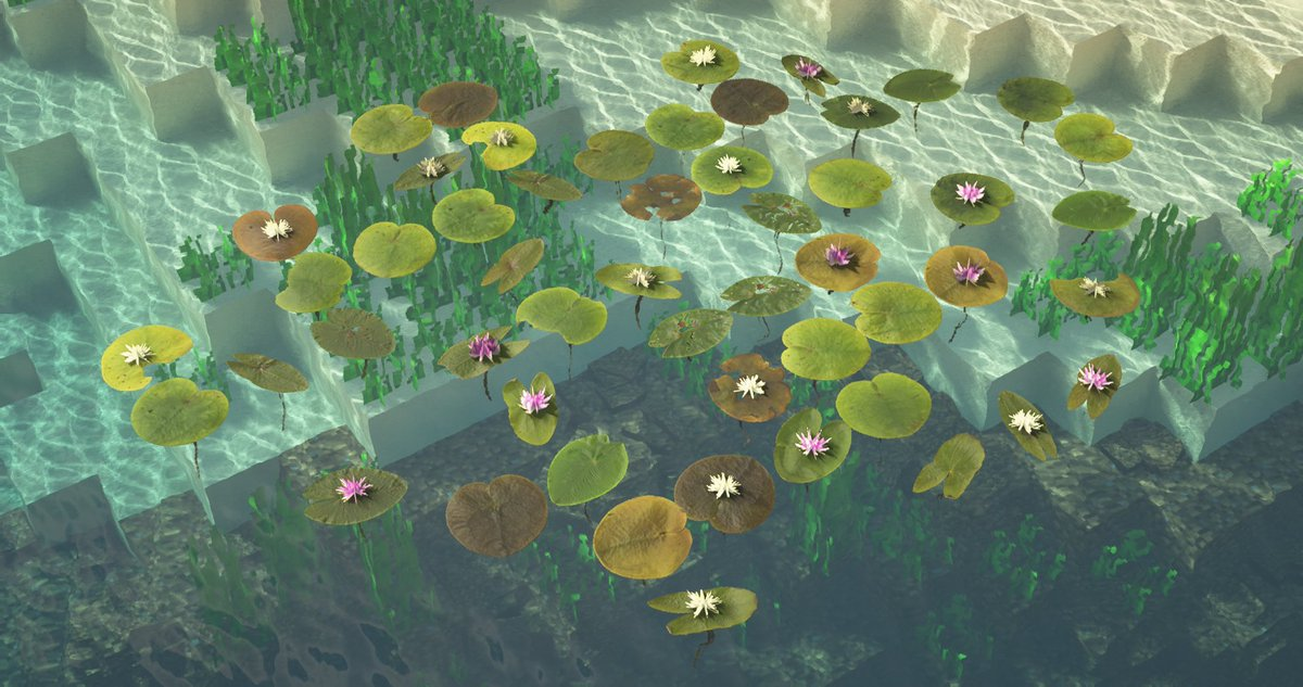 Atlas Graphics On Twitter Lily Pads Are Finally Being Remastered With Over 30 Variations Of Lily Pads 20 Different Flower Variations As Well As Their New Custom Model They Re Looking Better Than