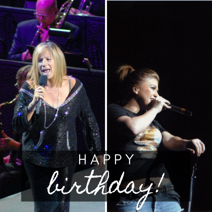 Did you know Kelly Clarkson & Barbara Streisand share a birthday today? Wishing both of them a very happy birthday!