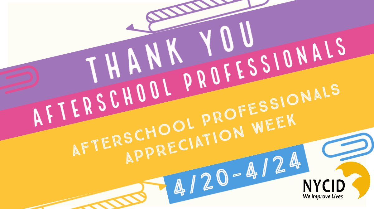 It's national Afterschool Professionals appreciation week and we want to give a shout out📢 to all of the dedicated afterschool professionals in our programs.  Without all of your hard work our students would have nowhere to go after school🙌. #WeImproveLives #HeartOfAfterSchool https://t.co/T0fA8fQSN6
