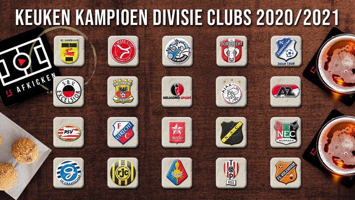 Fc Afkicken On Twitter Dit Zijn Ze Dan De Twintig Keuken Kampioen Divisie Clubs Van Het Seizoen 2020 2021 Cafevrijdag