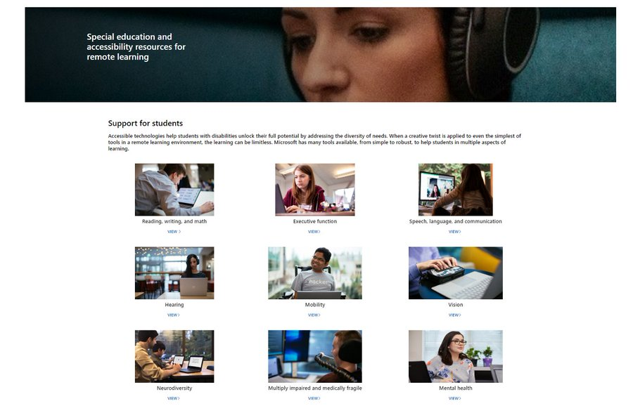 New Special Education site in the Microsoft Educator Community
