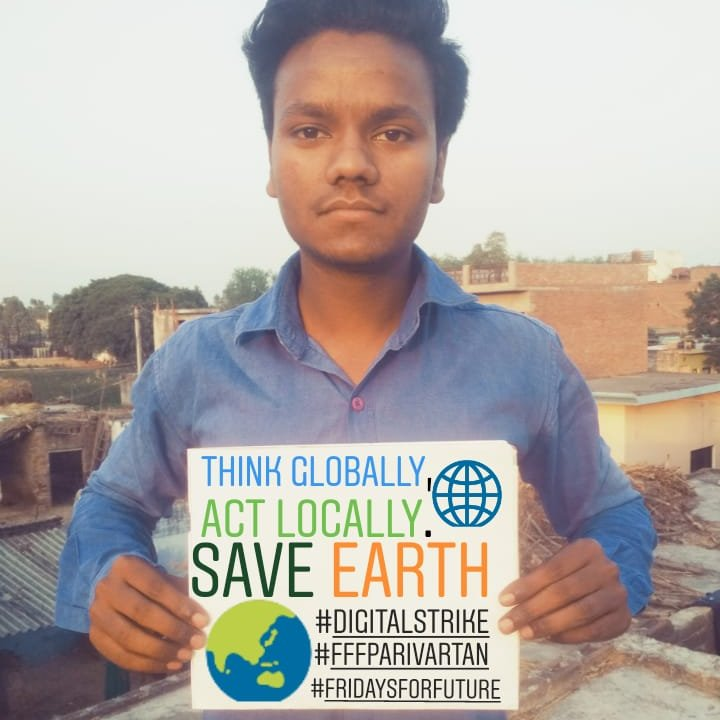 Today is Friday,a day for #CLIMATESTRIKE, to aware the people for nature & future,a day to appeal to save our mother Earth. @GretaThunberg @parivartantheng @Friday4futureIN #FFFParivartan #Digitalstrike #ClimateChange