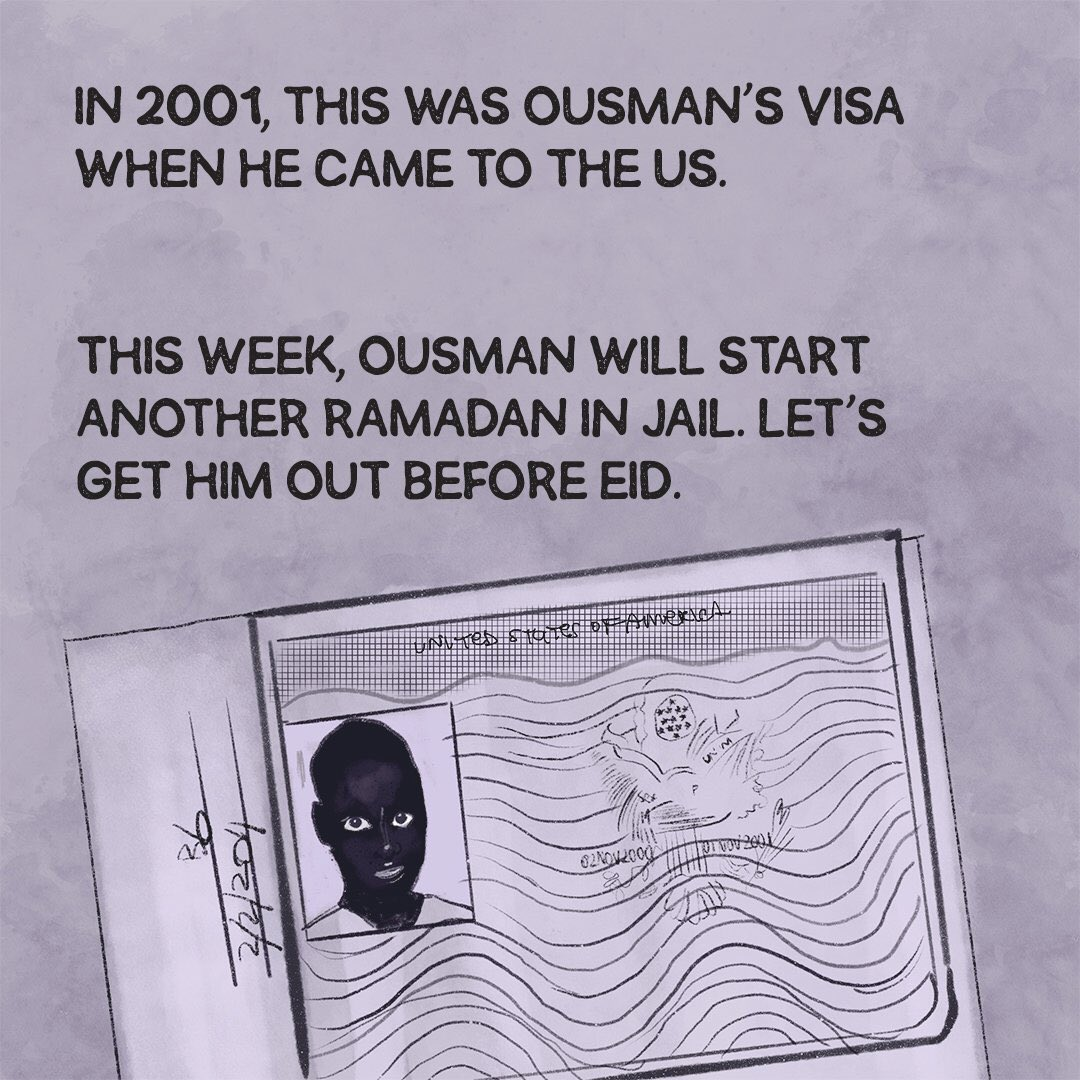 Let's get Outman free during #Ramadan #FreeOusman #AbolishICE 4/4