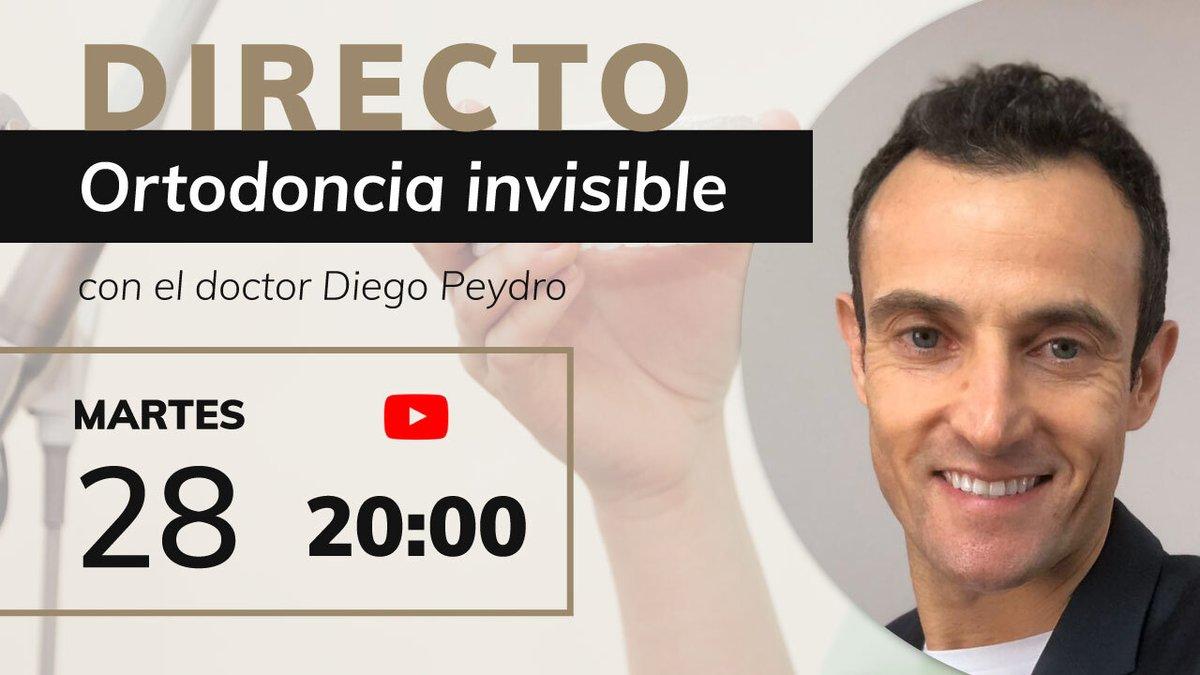 🛑El próximo martes, 28 de abril, el doctor Diego Peydro hará un webinar en directo, a través de Youtube, para hablar sobre #ortodonciainvisible  Link de acceso 👉 https://t.co/2XI2lHbxxR  #dentistavalencia #valencia #invisalign #clinicadental #clinicadentalvalencia https://t.co/biSD5rpJsr