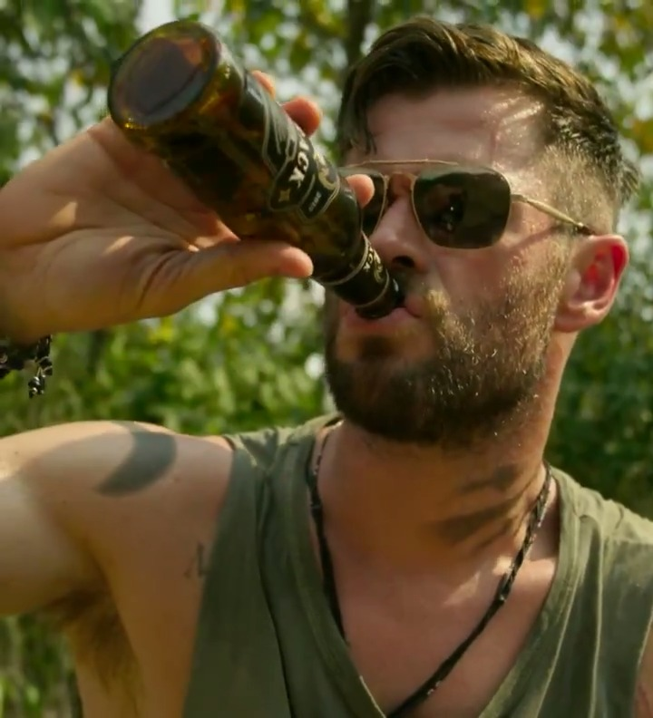 "Replying to @netflix: The introduction to Chris Hemsworth's character in Extraction is the ultimate"" hold my beer"" moment"
