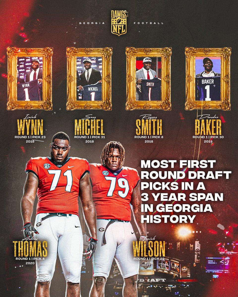 Six 1️⃣st round #NFLDraft picks in the last three years... The #KirbySmartEffect is R E A L 🤯 #DawgsInTheNFL