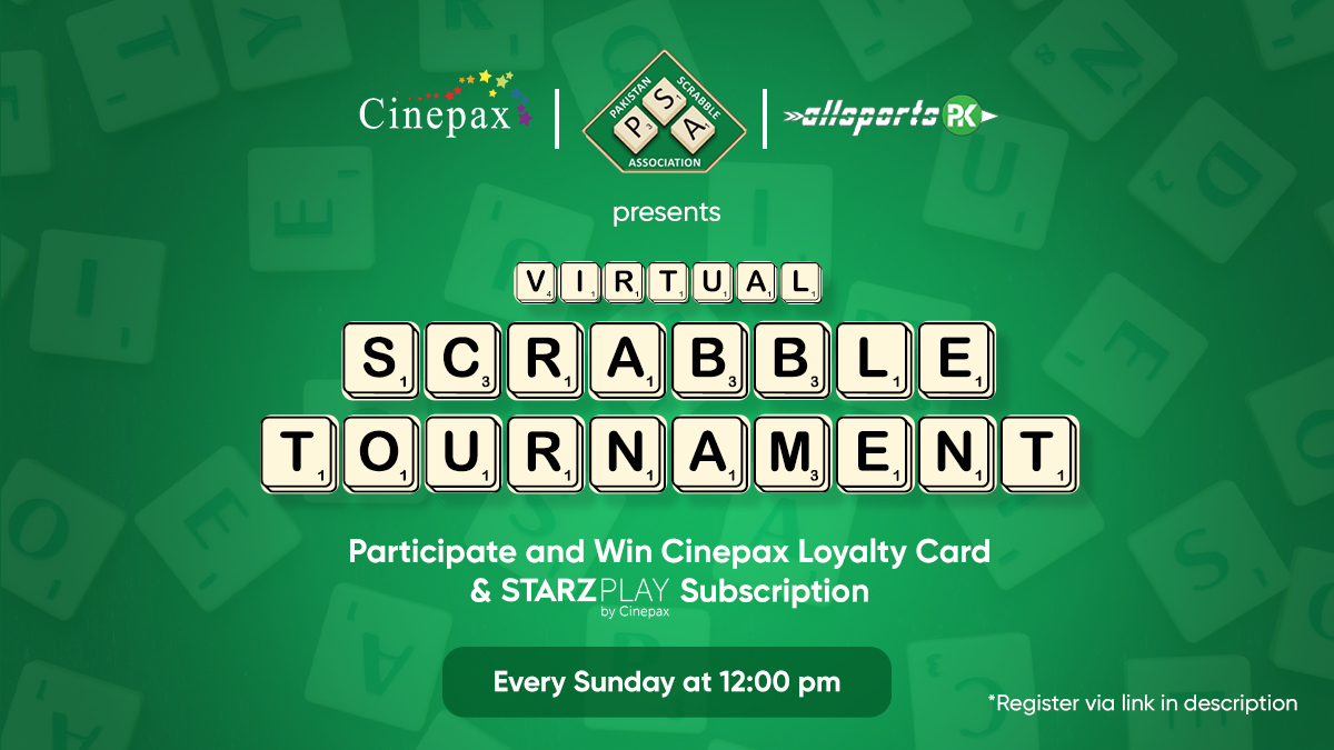 Great news for all scrabble lovers!  @cinepax_cinema & @allsportspkcom in collaboration with @pakscrabble presents:   Virtual Scrabble Tournaments   For registering. Click on https://t.co/dOLPo1BiwG  Next Virtual tournament will be held at 12pm, 26th April 2020. https://t.co/ft2ZcttGTl