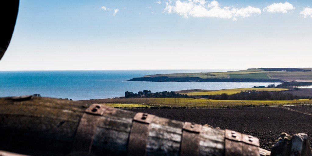 The view from Arbikie Distillery.  Lunan Bay.  We are blessed that we can look out over this stunning scenery every day.  #VisitScotaland @Arbikie #OceanView pic.twitter.com/cf4LcrkpBM