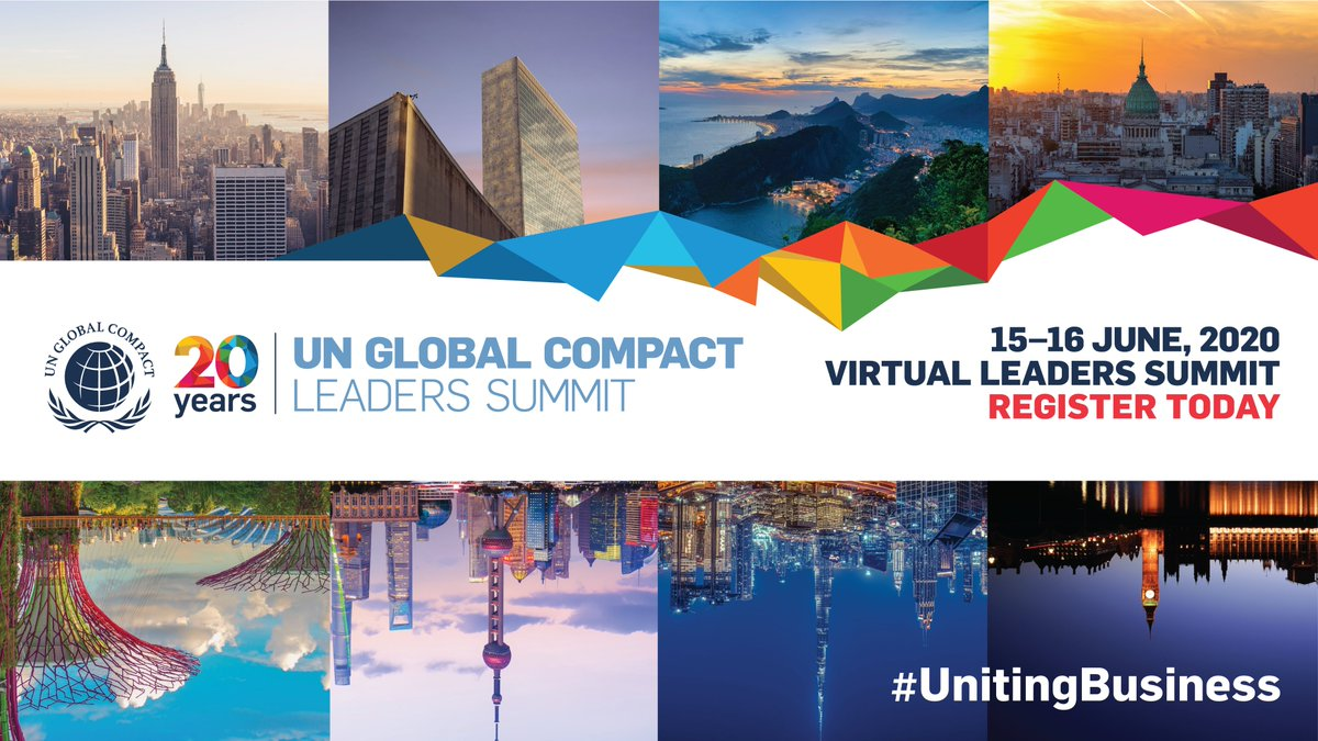 I will be attending the UN @globalcompact #LeadersSummit! On 15–16 June, the virtual event will convene voices from all sectors for a 24-hour conversation on rebuilding a  where no one is left behind. Join me: http://registration.unglobalcompact.org/website/12559/ pic.twitter.com/JfbYxZn5Sa #UnitingBusinesses