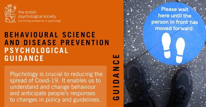 Changing behaviour is key to preventing infection, but the challenge is how to get people on board.   We've published guidance to give policymakers and communicators psychological insights to drive change #psychology #lockdown #behaviourchange #Covid19 https://t.co/FIuuPQJsCK https://t.co/WM3eVz4J9v