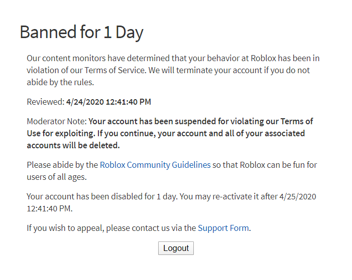 Use Code Vg On Twitter Roblox Ban Wave They Ban All