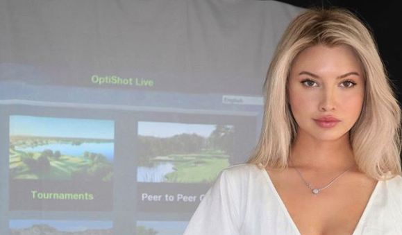 Lucy Robson Gets Golf Simulator To Keep Her Busy During Quarantine