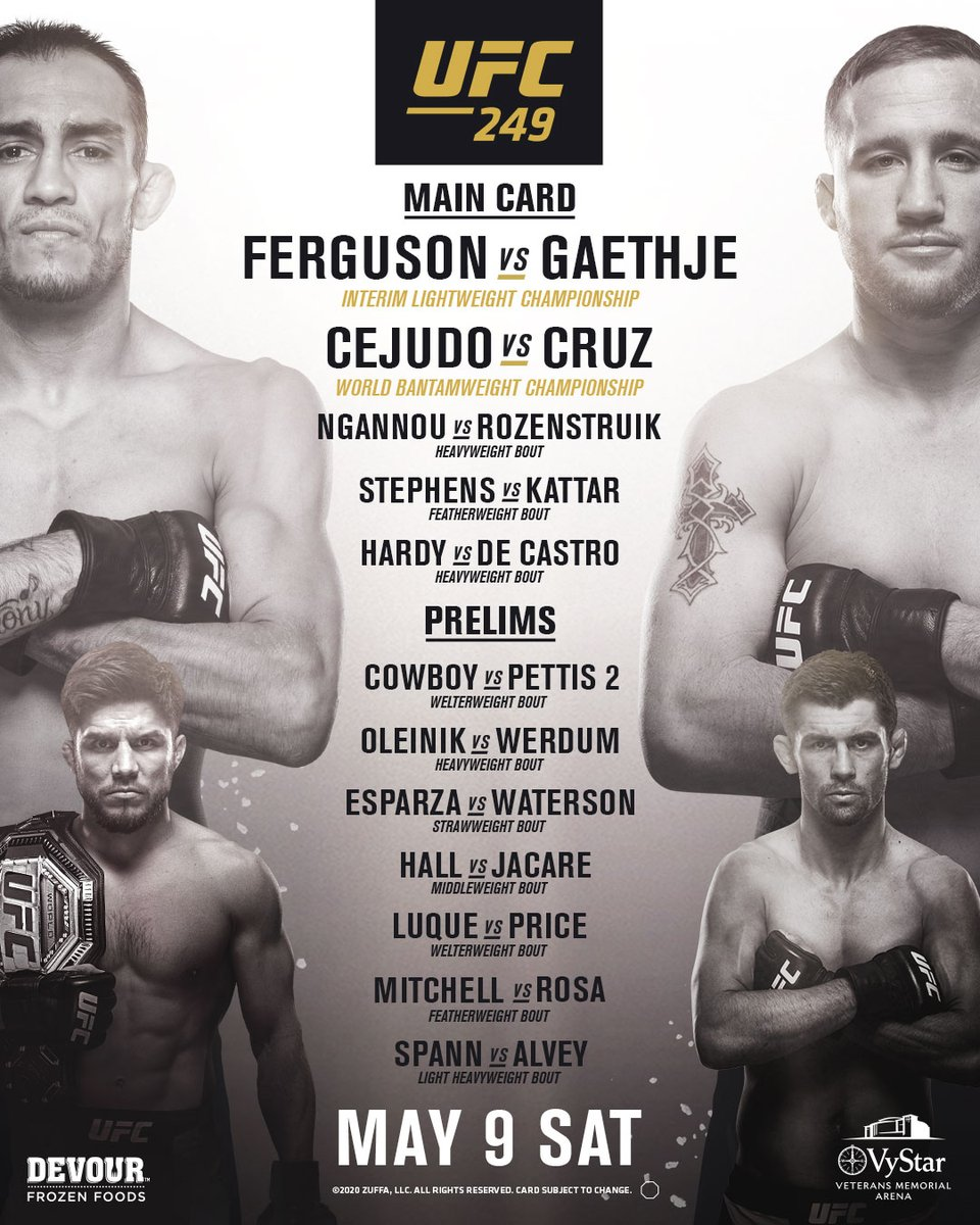 ONLY TEN MORE DAYS! 🤯 #UFC249 https://t.co/qcn1jrP2CJ