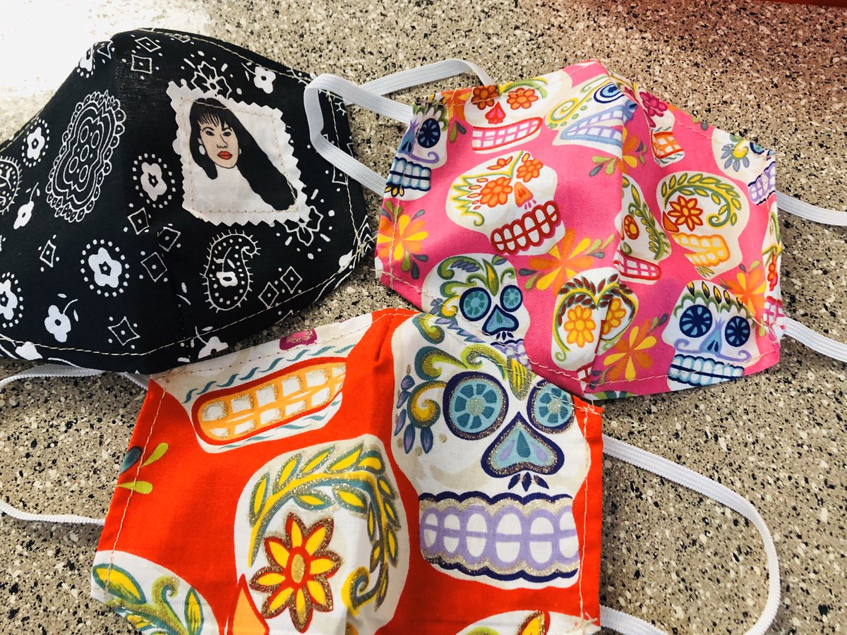 I ordered some masks as we continue to endure this pandemic. These are from http://gladisalejandre.com. #mask #masks #hispanicheritage #selena #dod #skulls #lifeduringpandemic #covid_19 #latinapic.twitter.com/hx0qUiFHwS