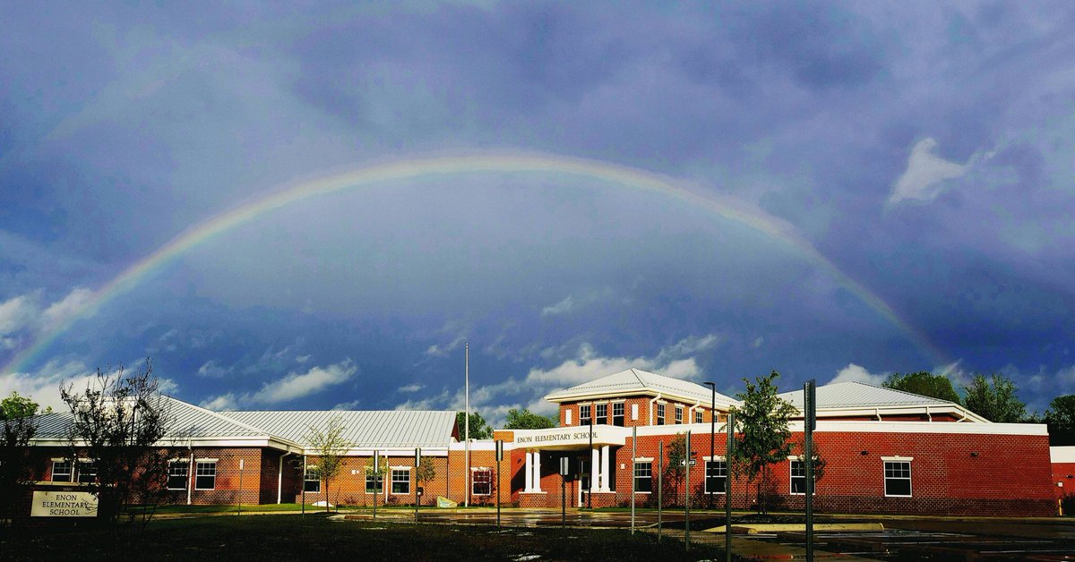One of our Enon families took this photo after the storm today. Just beautiful.