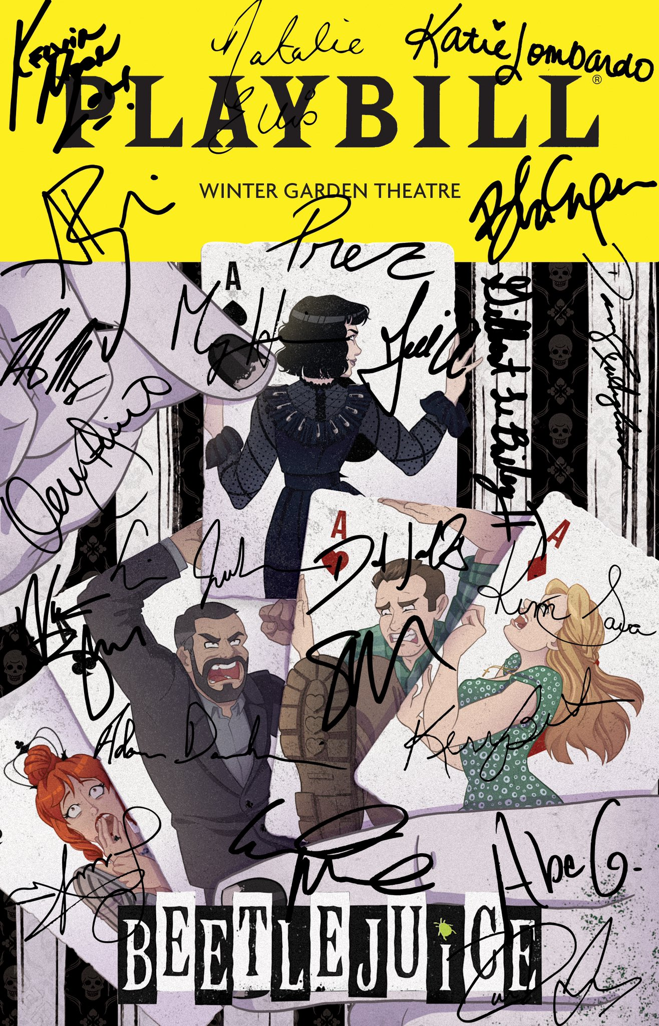 Beetlejuice On Broadway On Twitter A Big Sandworm Sized Thank You To Our Cast For Joining Our Virtualstagedoor And Signing This Beetlejuicebway Playbill And Thank You To The Winner Of Our Playbill Fan