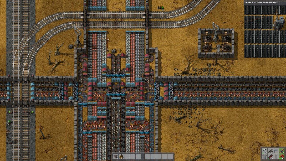 Screenshot from a computer game factorio
