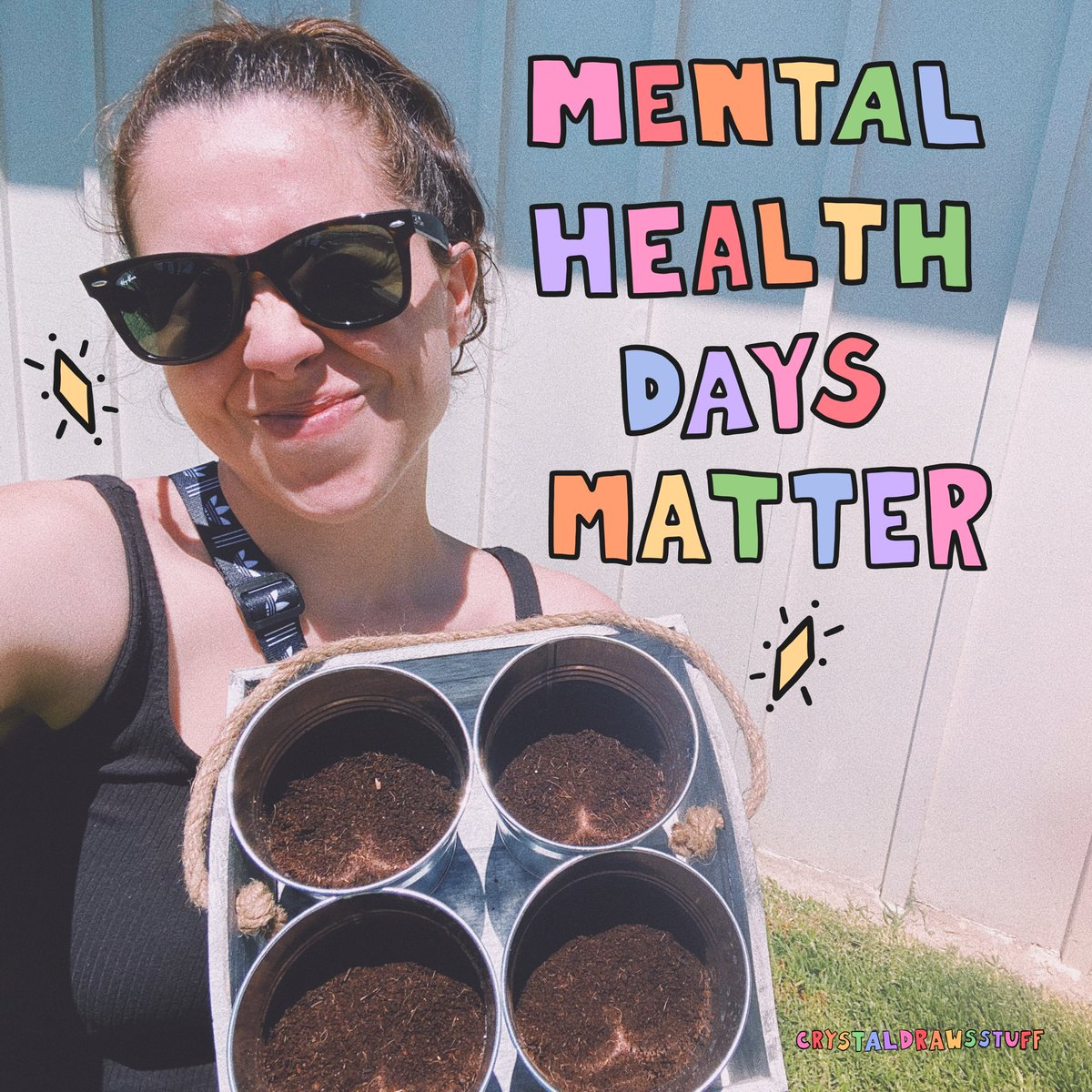 """Mental health days off should be mandatory for ALL. I remember all the times I quit jobs and called in """"sick"""" for school because of my mental health. I remember feeling like a failure or not """"normal"""" for needing more time than others. Everyone needs time and space. #Mentalhealth"""