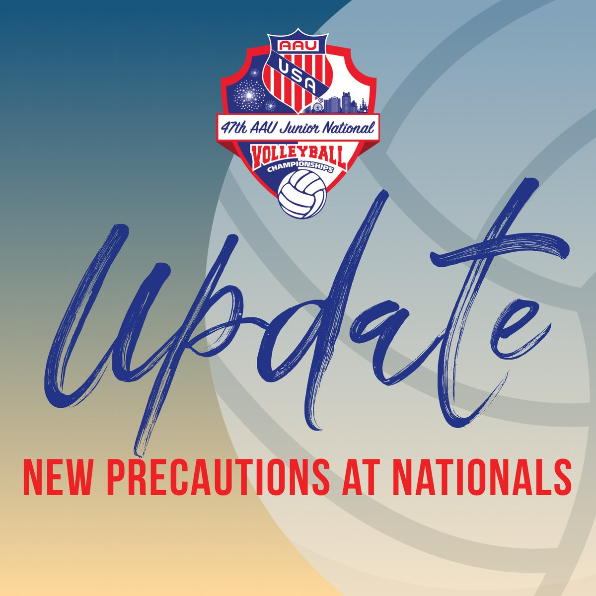 Aau Volleyball On Twitter Update The 2020 Aau Volleyball Nationals Is Still Scheduled As Planned New Precautions Are Being Taken To Keep Our Athletes Coaches And Volunteers Safe While Allowing Our Athletes