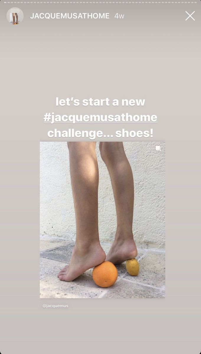 Designer @jacquemus has recently encouraged his Instagram followers to partake in the #JacquemusAtHome challenge. The challenge gets people to share their attempts at recreating the brands iconic mismatched heels using household items. #UserGeneratedContent  #udubmktg #udubmktg2pic.twitter.com/QD003AVill