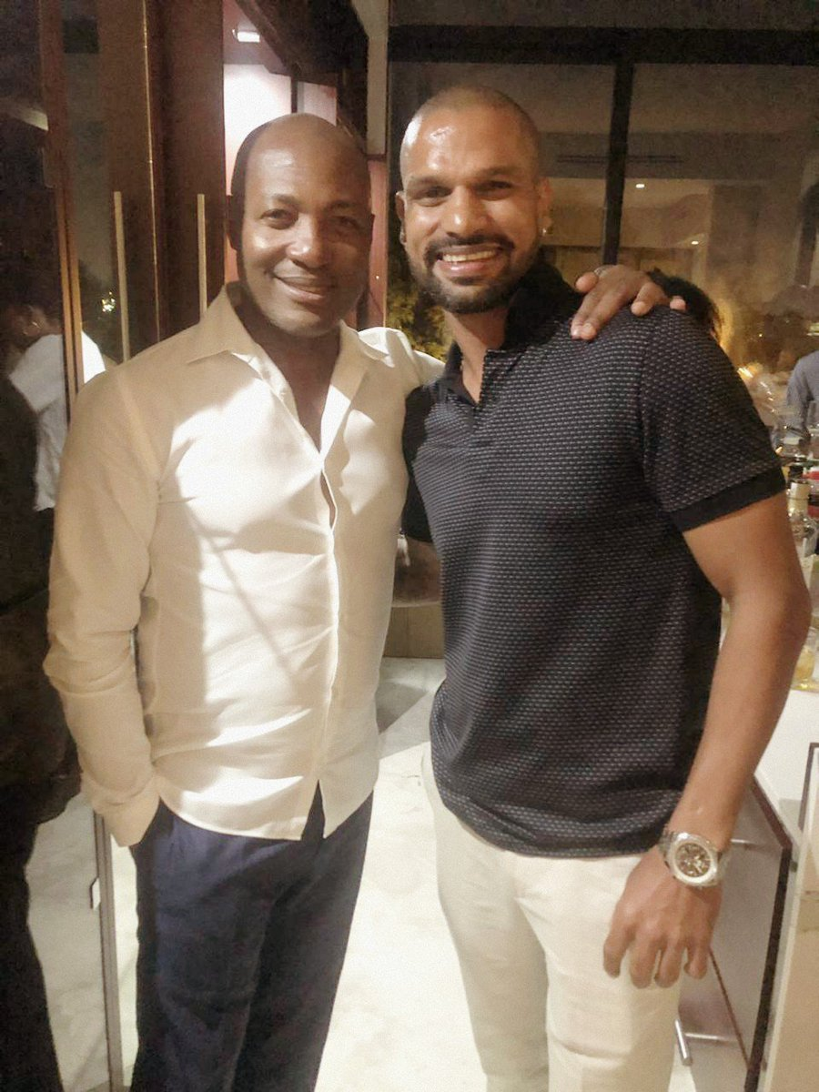 Happy birthday to the legend, the Prince of Trinidad & Tobago and a great human being @BrianLara 🙌🏻 Hope you have a beautiful year ahead and soon well do our dance lessons 😅🤗