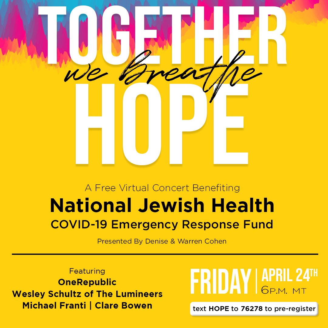 We're #live! Watch Together We Breathe Hope feat. @RyanTedder and @brentkutzle of @OneRepublic, @wesleyschultz82 of @thelumineers @michaelfranti & @clarembee at   #NJHEvents