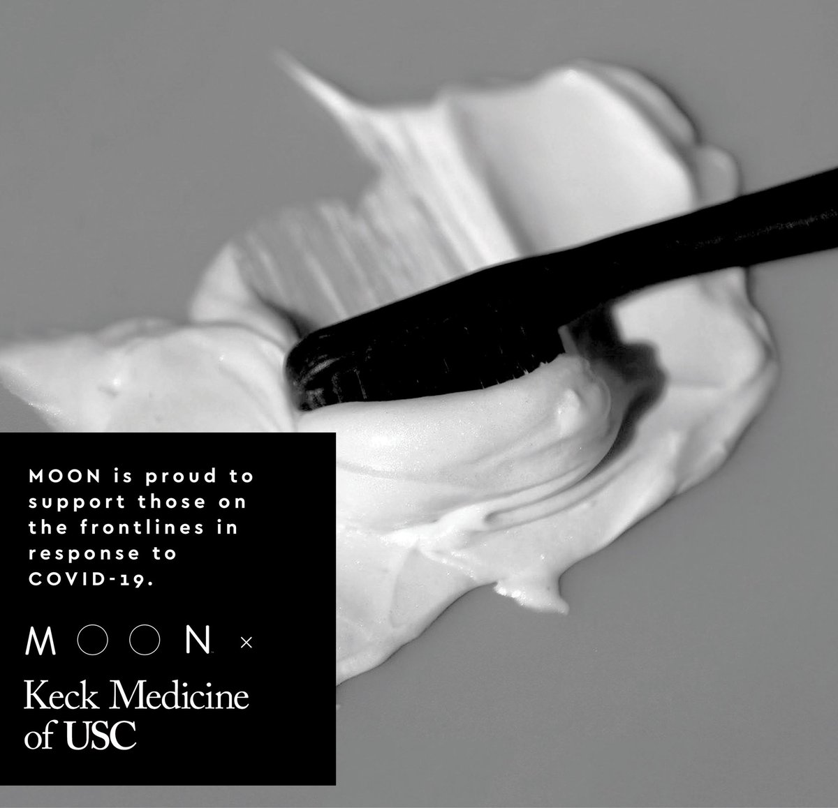 I'm working with @MoonOralCare to send product to healthcare workers that are heroically fighting COVID-19 at the Keck Medicine of USC centers. Sending 🖤 to everyone on the frontlines. #moon_partner
