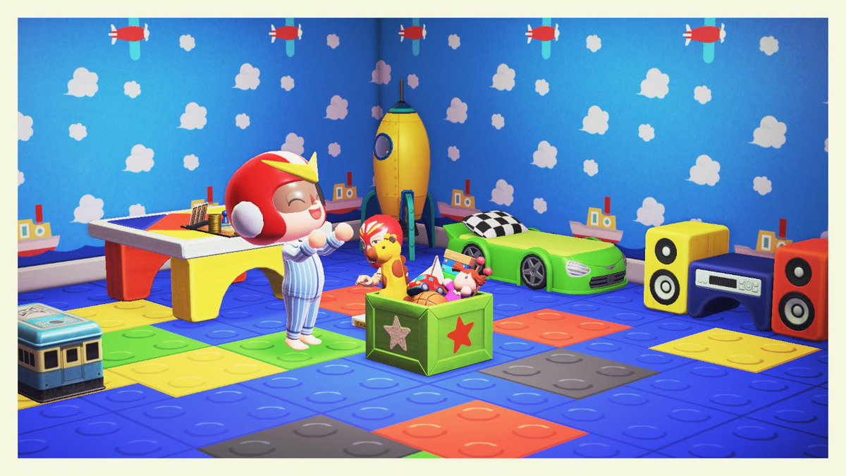 レゴブロックの床タイルを描きました✨ちょい派手だけど、子供部屋に合いそう