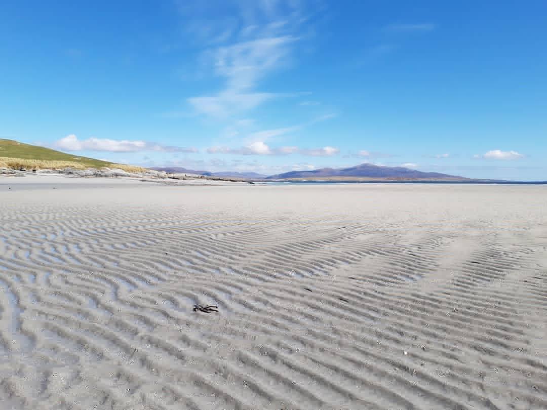 Another beautiful beach walk today 💙 #Berneray #OuterHebrides #Scotland