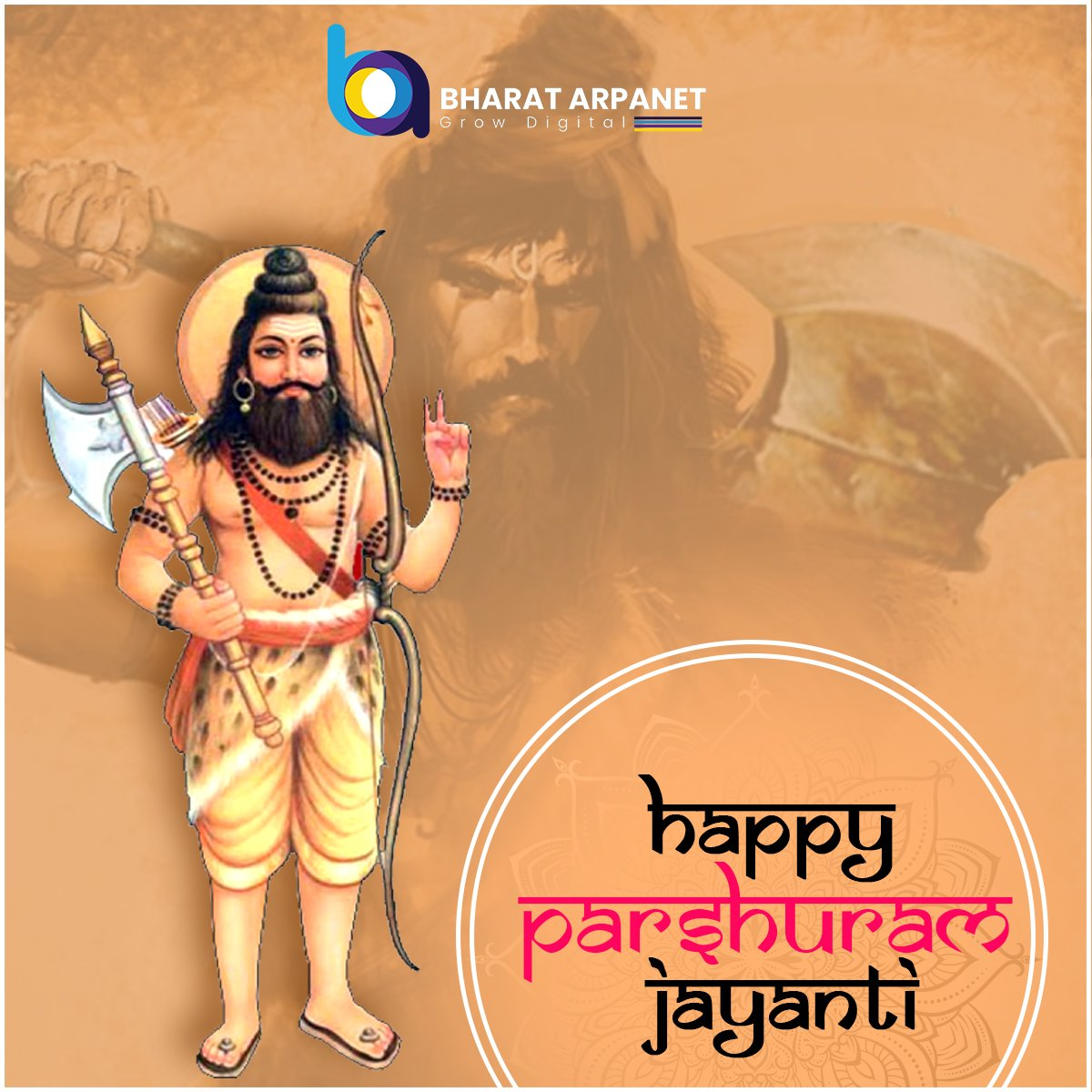 May Lord Parshuram bless you with power & courage and achievements.  #HappyParshuramJayanti #ParshuramJayanti2020 #ParshuramJayanti #ParshuramJanmotsav https://t.co/Ufoas1Pvm1