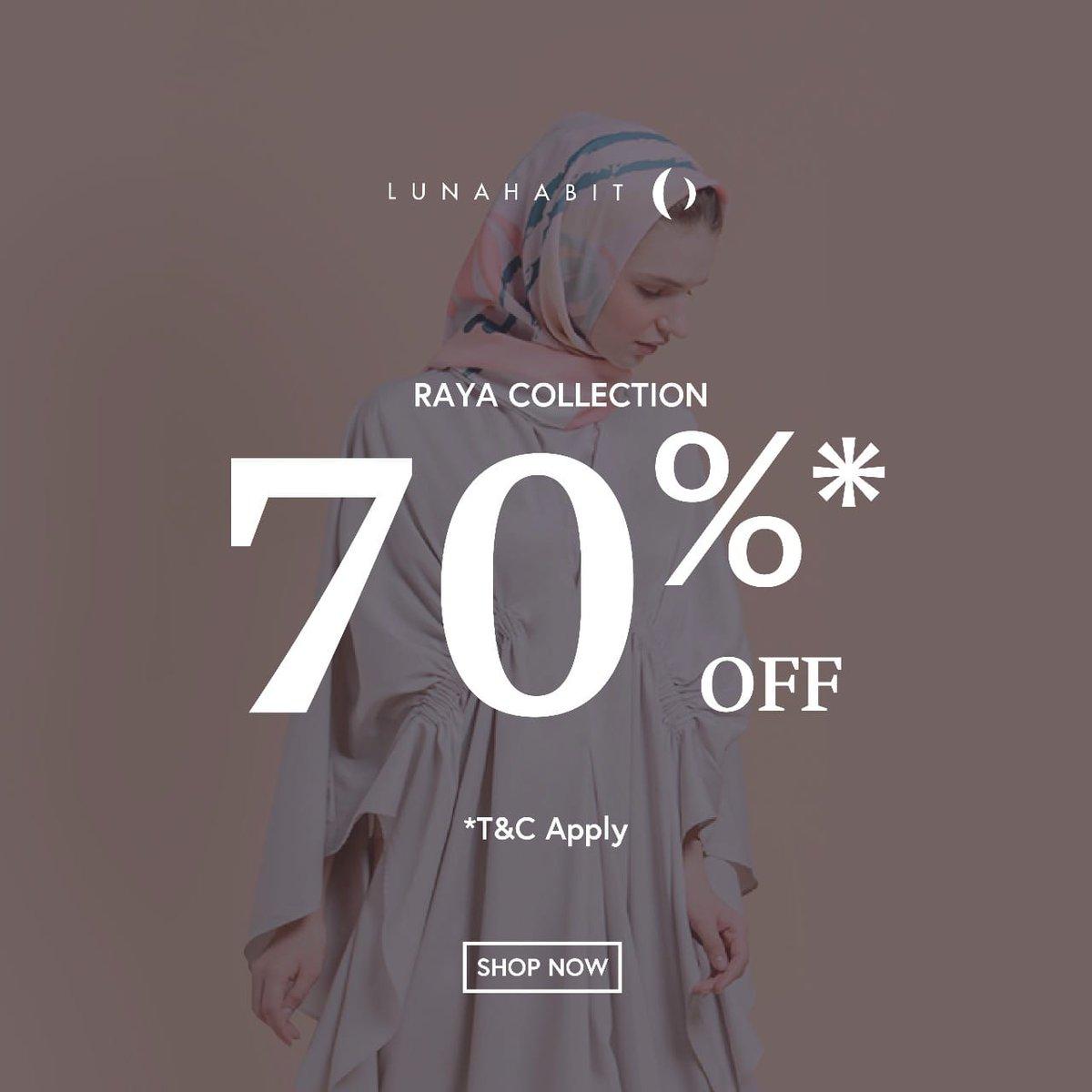 SALE hingga 70% koleksi Ramadan dari @LunaHabit   Shop now 🎉😊