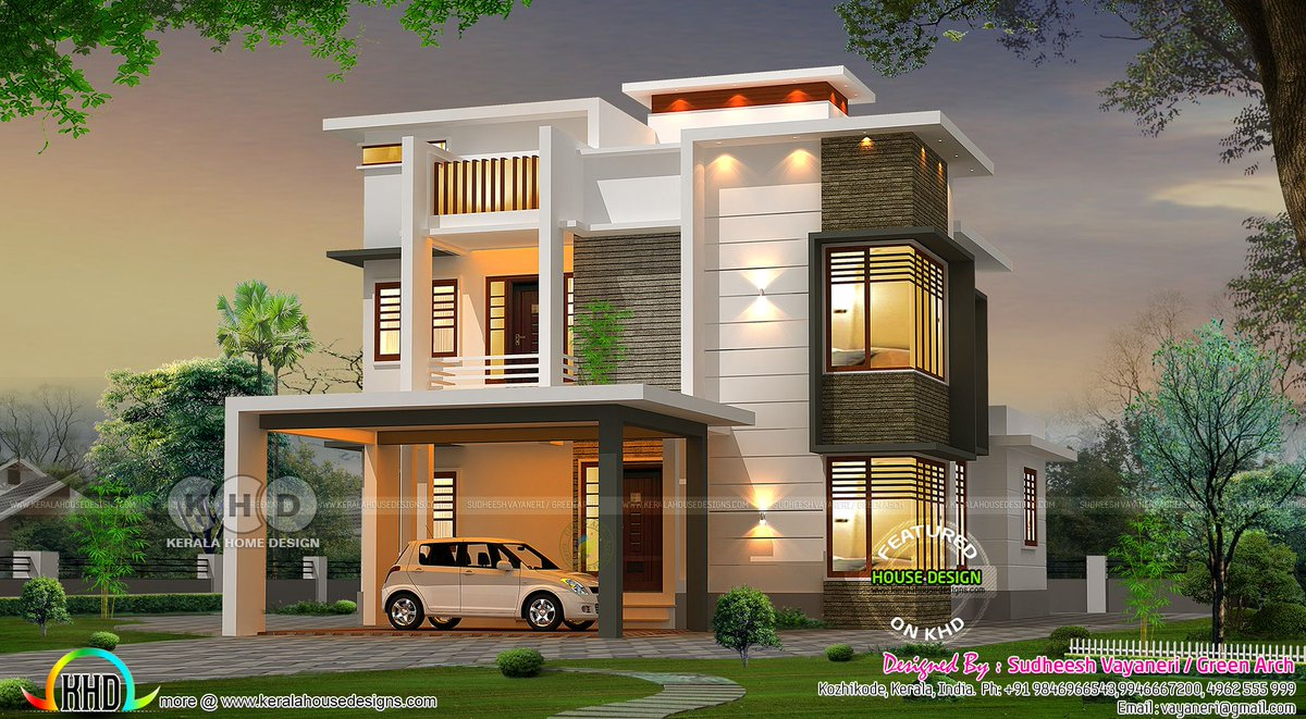 Kerala Home On Twitter Modern Contemporary House With Kitchen Interior Https T Co Czcuj8ytos