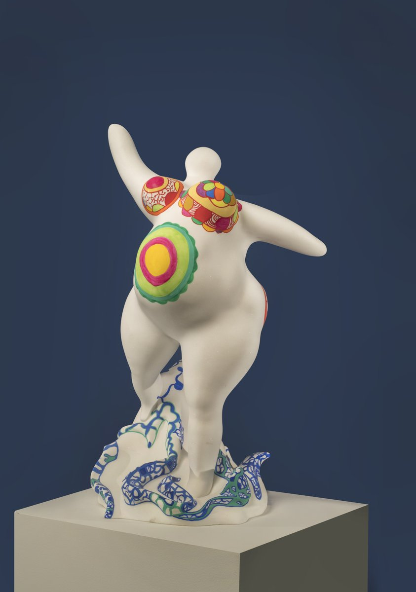 """Happy @intsculptureday! Here are a few favorites from our collection—see more in our ever-growing online collection:  http:// bit.ly/2MPc0EL     #ISDay  1. #NikiDeSaintPhalle, """"Pregnant Nana,"""" 1993 2. #LouiseBourgeois, """"Spider III,"""" 1995 3. #FridaBaranek, """"Untitled,"""" 1991<br>http://pic.twitter.com/u6xzMUOfFG"""