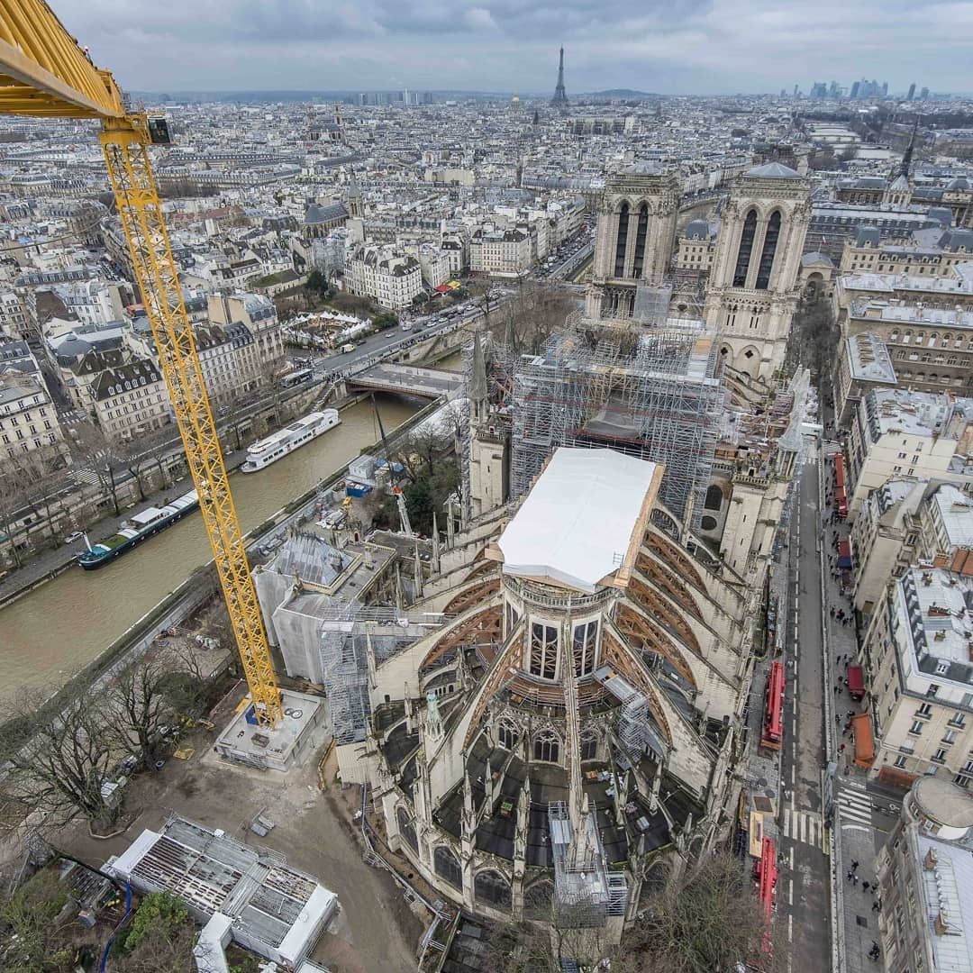 Obras en Notre-Dame se retoman tras estar paradas desde marzo