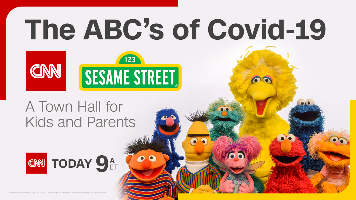 Do your kids have questions about Covid-19? CNN is teaming up with our friends from @SesameStreet to help! The ABC's of Covid-19: A #CNNSesameStreet Town Hall for Kids and Parents, today at 9 a.m. ET Submit your questions here: cnn.it/2S7STr7