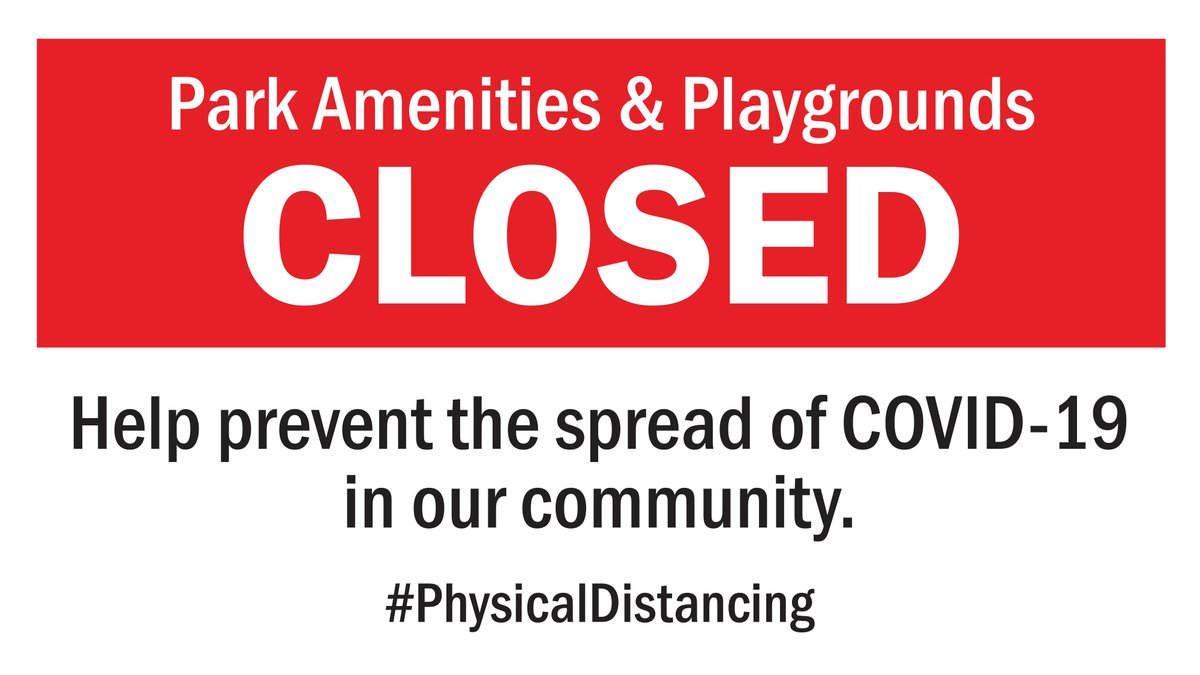 All of our parks parking lots are currently closed to the public. Please don't drive to a park or the waterfront. Discover the sidewalks and trails in your own neighbourhood. We all have to do our part to continue to stop the spread of COVID-19. #InThisTogether https://t.co/VMVg20h4Nt