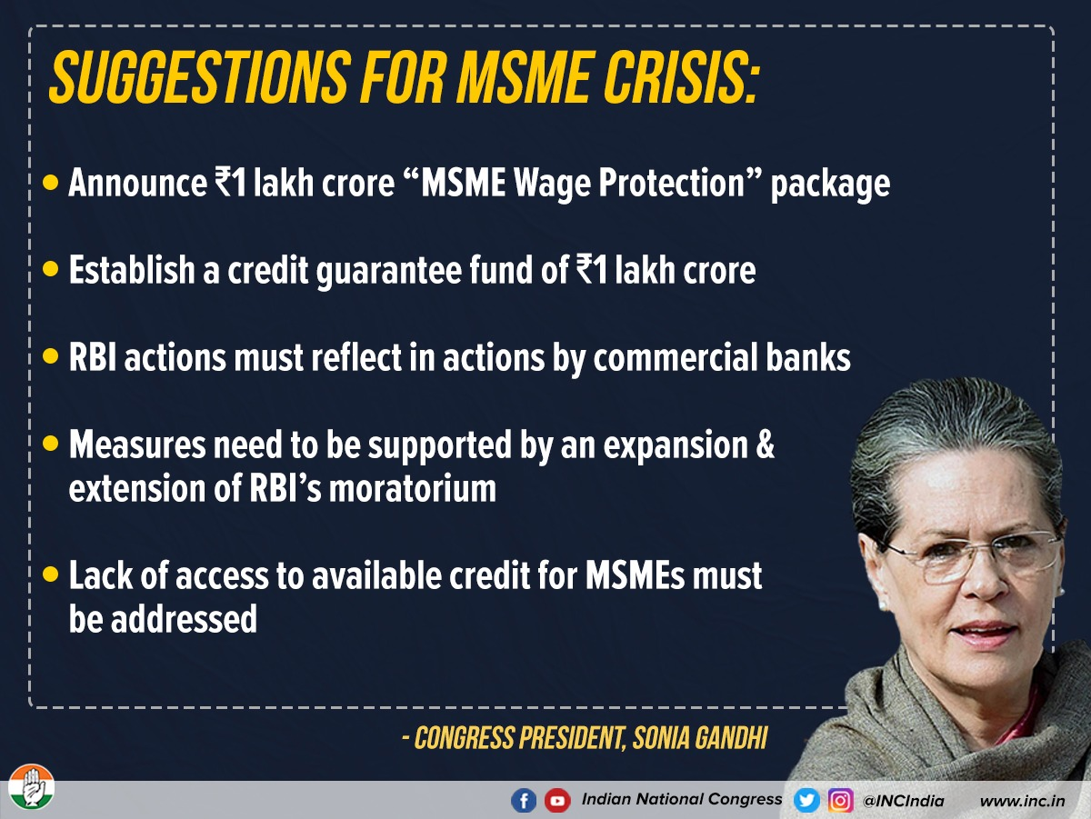 Clear and crisp need of the hour to ensure survival of MSME - as a starting step!