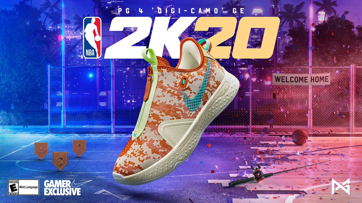 Remind them they can't see you.  Win a MyPlayer Nation playoff game on @NBA2K to unlock access to a physical pair of the PG 4 'Digi-Camo' GE.  Learn more: https://t.co/X2LR9ShoyT #NBA2K20 #SNKRS https://t.co/Eg1tbeniSA