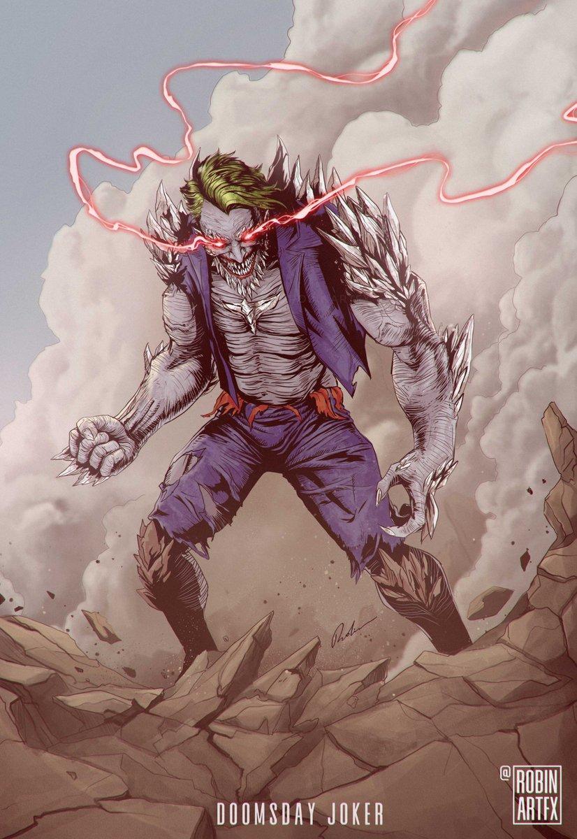 Robinartfx On Twitter My Dc Villain Mashup Joker And Doomsday Fanart Dc Joker80 Dccomics Dcffan