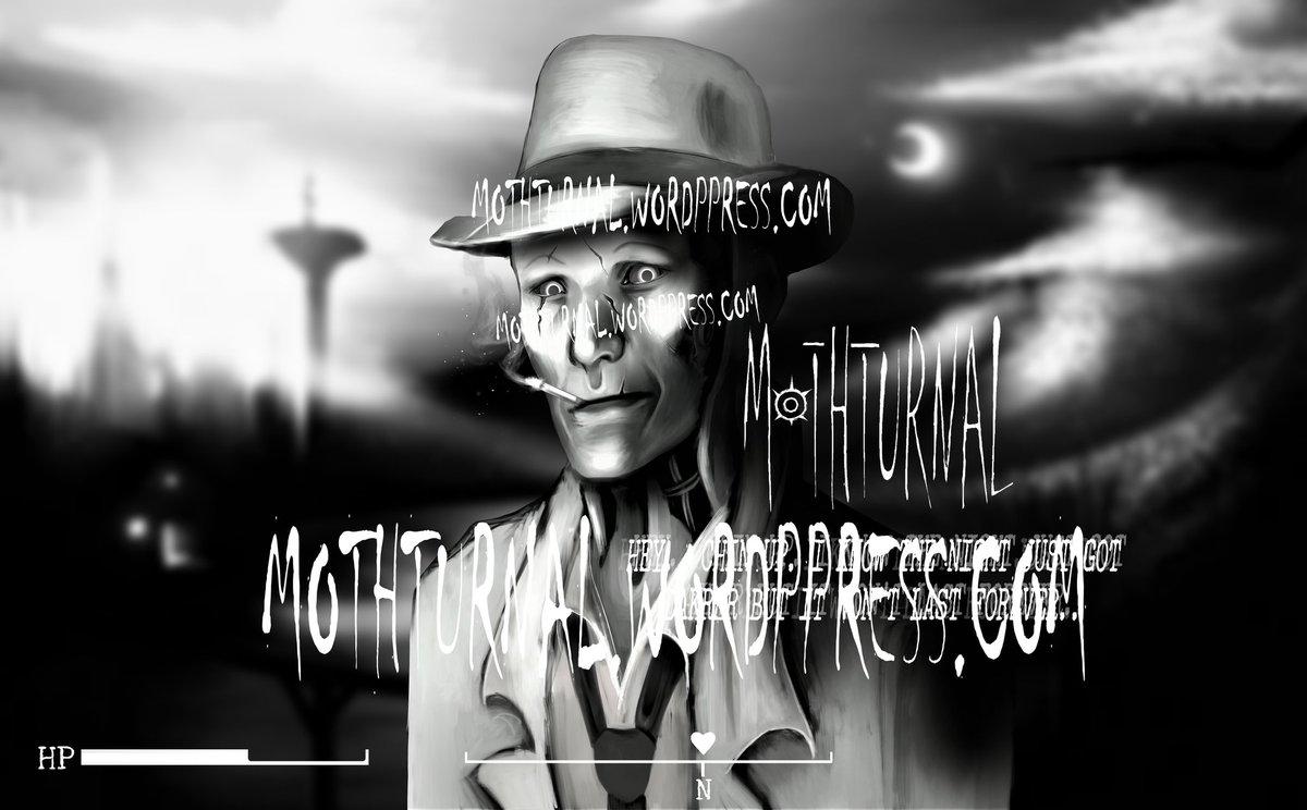 I know the night just got darker but it wont last forever.. #art #portrait #illustration #fallout #fallout4 #fanart #nickvalentine #playstation #videogames #blackandwhite #goth #gothart #gothic #landscape #quotes #robot #detective #apocalypse #gamer #scifi #future #pc
